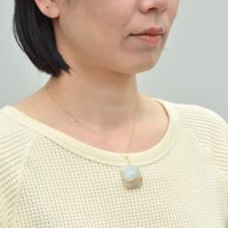 YUKIKO OKURA/ユキコ・オオクラ K10 翡翠 ペンダントヘッド 着用例