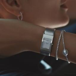 K18 2ctダイヤ ブレスレット (イ)WG コーディネート例