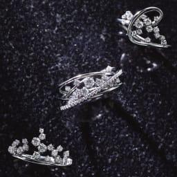 タイムレスプラチナ 0.37ctダイヤ デザイン リング タイムレスプラチナ ダイヤ リング シリーズ