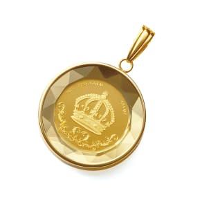 純金 1/25オンス 王冠コイン ペンダントヘッド 写真