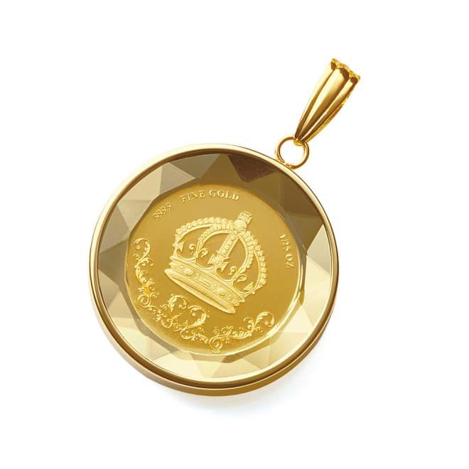 純金 1/25オンス 王冠コイン ペンダントヘッド 王冠