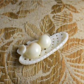 YUKIKO OKURA/ユキコ・オオクラ 白珊瑚 彫板 果物籠 写真