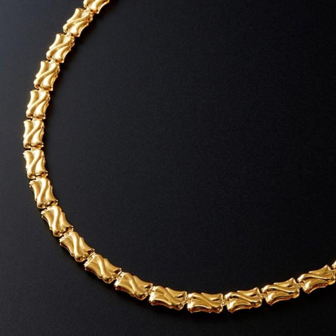 純金 リバーシブルデザインネックレス