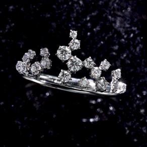 タイムレスプラチナ 0.37ctダイヤ デザイン リング 写真