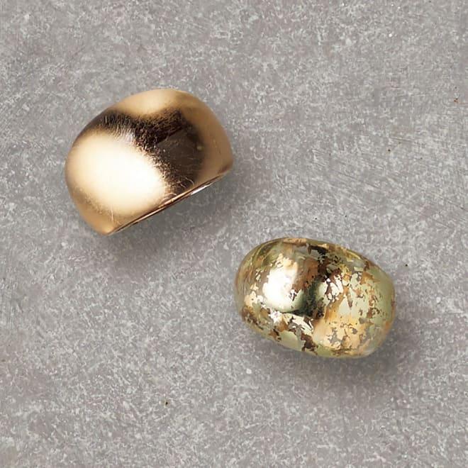 HAKUZA/箔座 純金プラチナ箔 アクリルリング 左から (イ)久遠色 (ア)久遠色レイヤー