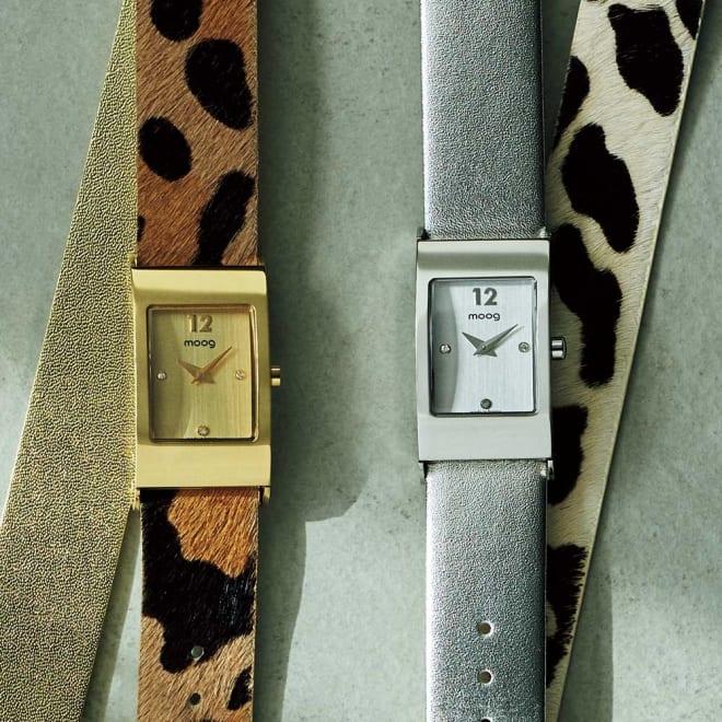 moog/ムック カルトポワン(チェンジベルト)(フランス製) 左から (ア)ゴールド×レオパード (イ)シルバー×ダルメシアン