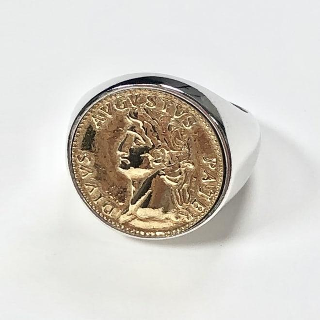 JESSICA/ジェシカ SV コイン リング(イタリア製) (ア)ゴールド系コイン