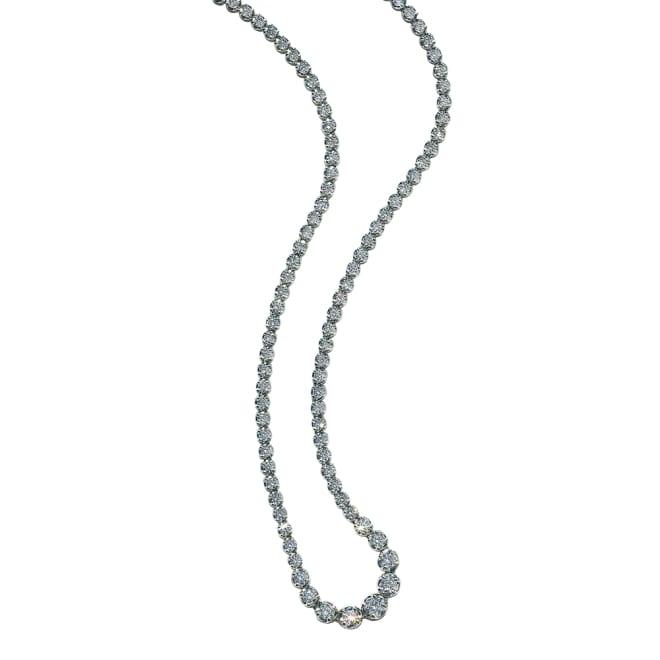 K18WG ダイヤグラデーション フルネックレス