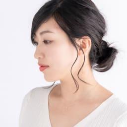 K10 ダイヤ Iラインペンダント (イ)WG(web限定色) コーディネート例