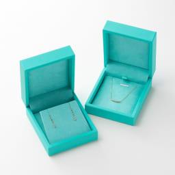 K10 ダイヤ スリーストーンペンダント 外箱(中身はサンプルとなります。)