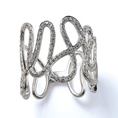 K18WG 0.35ct ダイヤ デザイン リング