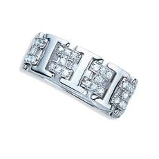 K18 0.5ct ダイヤ デザイン リング