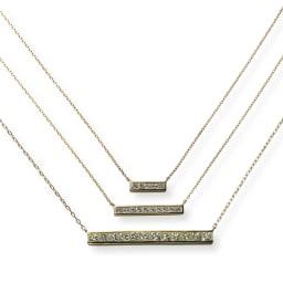 K18 プリンセスカットダイヤ ペンダント 上から 0.11ct、0.23ct、1.0ctタイプ