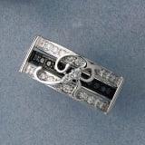 K18WG ダイヤ イニシャル セットリング 写真