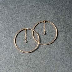 K10 ダイヤ サークルピアス
