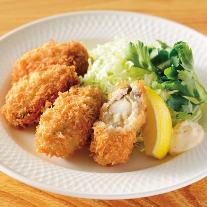 宮城産 特大カキフライ (20粒×2パック) 【調理例】1粒約40gの大きさ!食べごたえのある牡蠣フライです。