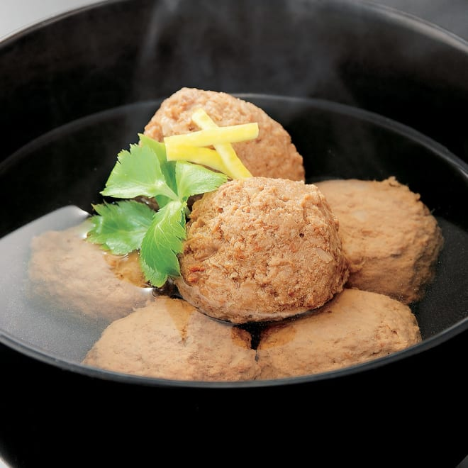 国産 真いわしのつみれ缶(8缶) 【調理例】缶詰を開けていわしのつみれをお味噌汁やお鍋などにどうぞ。