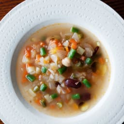 乾燥粒こんにゃく 粒こんきらり (65g×5袋)×4袋 【調理例】 ミラノ風野菜スープ