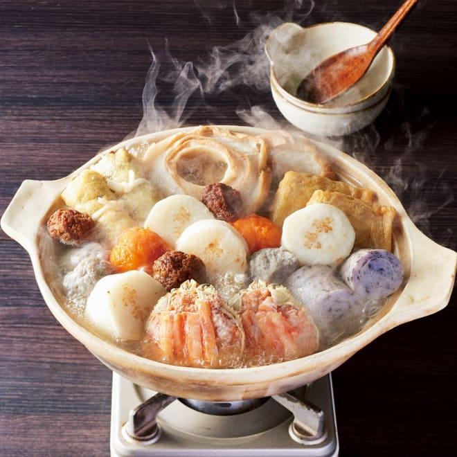 「赤玉本店」 9種のおでんセット(かに面入り) 【調理例】寒い冬には温かいおでんをいかがでしょうか。贅沢な「かに面」入りのおでんです。