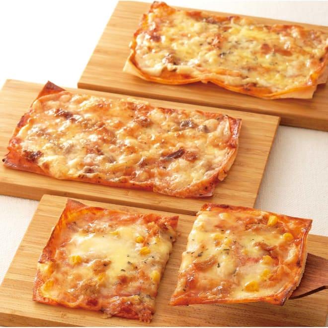 ミルフィーユピザ 3種セット(各種2枚 計6枚) 【調理例】上から アンチョビ、ローストオニオン、ツナコーン