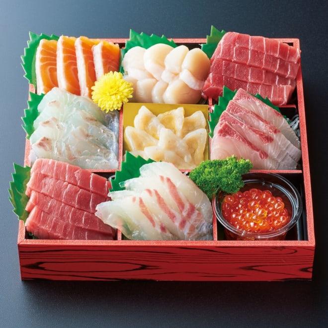「吉川水産」 お刺身盛り合わせ 【1月1日お届け】 吉川水産の目利き人が選りすぐりの素材をすぐにお召し上がりいただけるようお刺身に盛り付けました。