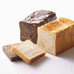 美食パン専門店「GALA」 ガラブラン (2斤分×2種) ディノス限定のプレミアムショコラ(左)とGALAの看板商品のプレーン(右)