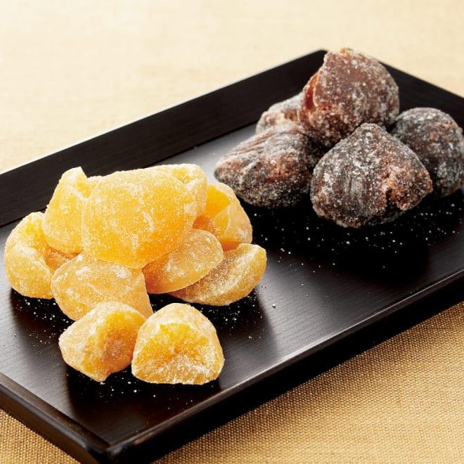 「銀座鈴屋」栗甘納糖こわれ (2種 計5袋) 左:栗こわれ 右:渋皮付栗こわれ