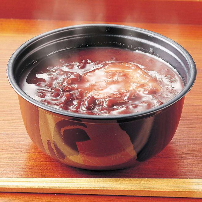 「銚子屋」お餅入り こだわりぜんざい (190g×10個) 北海道産小豆を100%使用した本格の味!電子レンジ対応カップに入っているのでそのまま温められます!