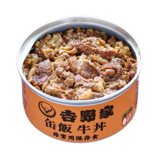 吉野家 缶飯牛丼 6缶セット (各160g) 吉野家のご飯缶詰(牛丼)開封後すぐにお召し上がりいただけます。