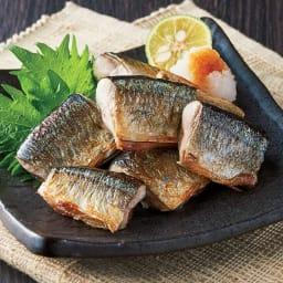 岩手県大船渡港水揚 骨抜き一口さんま(600g×2袋) 【調理例】一口大にカットされているので調理も簡単です。