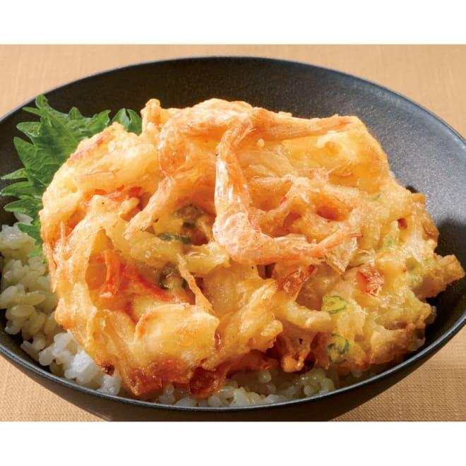 富山湾産 白えびかき揚げ (10食)  盛り付け例:富山産の白エビの味をお楽しみください。