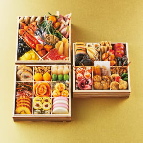 博多 日本料理 てら岡 「宝楽」 和3段重(約4人前) 全46品 写真