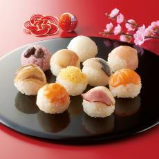 「銀座割烹里仙」監修 てまり寿司 (10種×3パック) 【通常お届け】