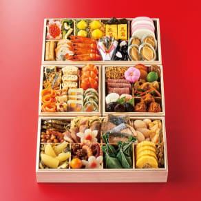 京料理「花萬」 三段与組重 和3段重(約3~4人前) 全53品 写真