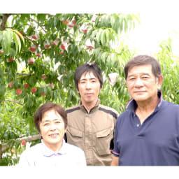 山梨産 芦沢さんの白桃 (約2.5kg) 芦沢さんご家族