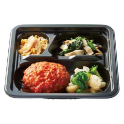ライザップ低糖質 おかず14食セット 【トマトソースハンバーグ】トマトソースハンバーグ/蒸し鶏と玉子のサラダ/ほうれん草とベーコンのコンソメソース