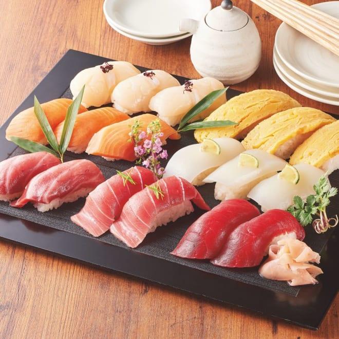 「築地ホクエイ」 おうちで特上握り寿司30貫セット 【盛り付け例】本格的なお寿司をお楽しみ頂けます。