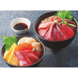 「築地ホクエイ」 魚河岸丼2種(贅沢鮪丼・4種海鮮丼) 2セット 写真