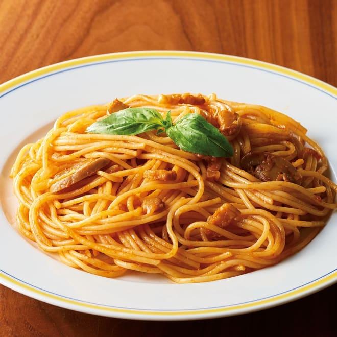 名店自慢!ナポリタン 浅草ヨシカミ (200g×8食) 【盛り付け例】浅草の洋食屋「ヨシカミ」監修のナポリタンをご家庭でどうぞ。