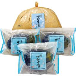 大阪泉州 水茄子のお漬物 浅漬け&ぬか漬け (2種計4袋) 商品パッケージ