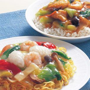 海鮮と野菜の中華丼の素 【塩・醤油味】 (2種×5袋 計…