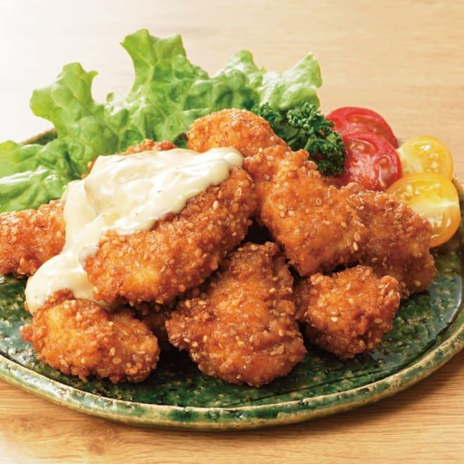 みつせ鶏 ごま南蛮 (190g×5パック) 【盛り付け例】 のびのびと育ったジューシーなみつせ鶏のごま南蛮。