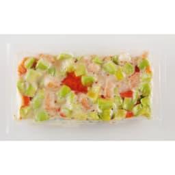 えびとサーモンのアボカドサラダ (250g×4袋) お届けパッケージ
