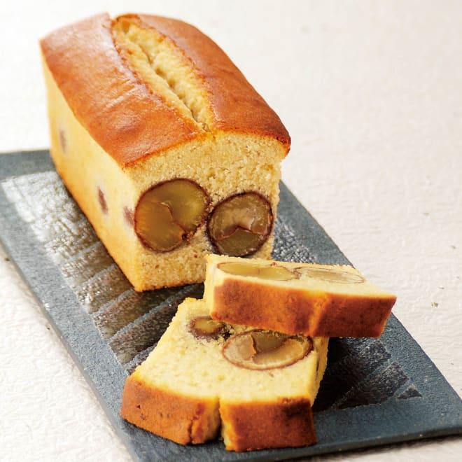 しまんと地栗パウンドケーキ「プレミアム」 1本当たりの栗の渋皮煮の使用量は、なんと約190g!どこを食べても栗の旨みが味わえます!