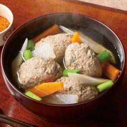 根室産 真いわしつみれ水煮缶 【調理例]】便利ないわしのつみれが入った水煮缶です。お味噌汁やお鍋など色々なお料理にご使用いただけます。