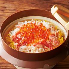 「ぶんぶく茶釜」 本ズワイガニといくらぶっかけ釜めし 2食