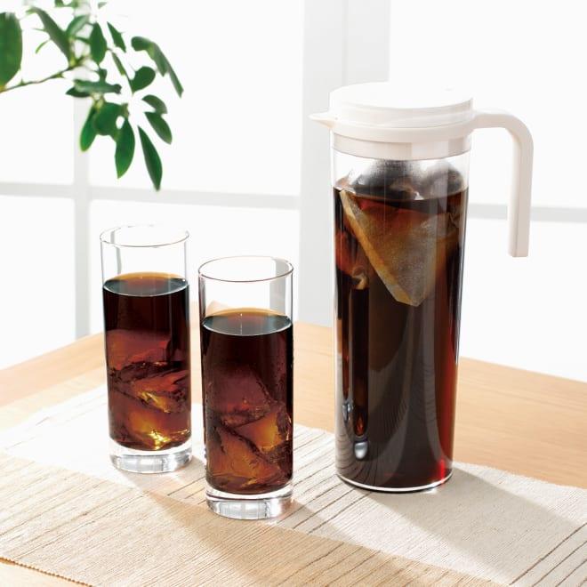 水出しコーヒーパック&ジャグセット 冷蔵庫で横にしてもこぼれないジャグ付きセット