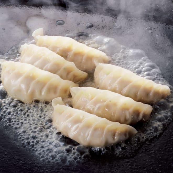 「信念」 手づくり肉餃子 (72個) 【調理例】焼き餃子はカリッ!水餃子はぷるん!こだわり薄皮餃子。