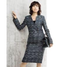 マリア・ケント社 ラメツイード スーツセット(ジャケット+スカート)