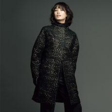 イタリア素材 レオパード柄 コート